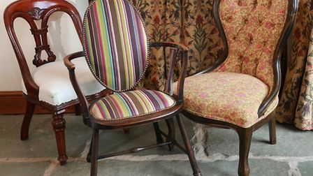 Upholsterer, Emily Houghton, at Lupton, Kirby Lonsdale