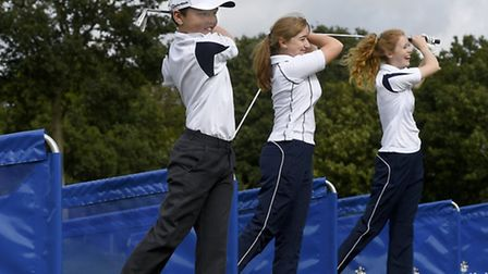 Pupils practice their swing at Culford School