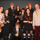 Sir Roger Norrington and previous BBC Young Musician of the Year Jennifer Pike, with Queens College