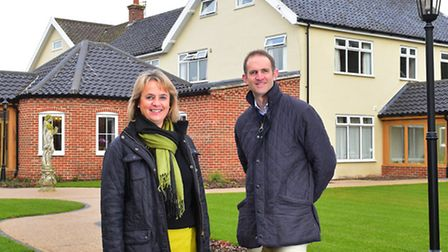 Care home owners Robert Blackham and his sister Sally Crawford at The Moorings, Earsham