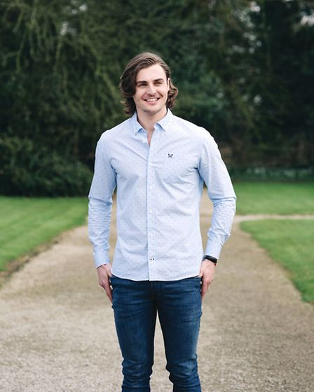Barney wears Crew Clothing Haden Slim Fit Shirt, £60, with French Connection Vintage Wash Jeans, £60