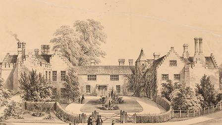 Drawing of Ingatestone Hall by F Coverdale