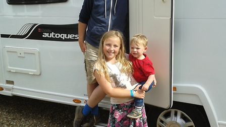 Shaun Lowthorpe with daughter Josephine and son Nyle