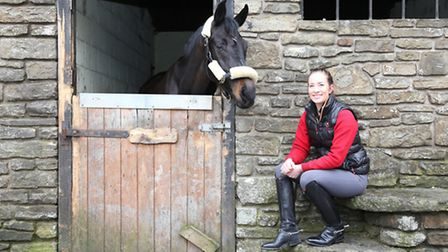 Jessica with Princess Fifi at the stables in Altham near Accrington
