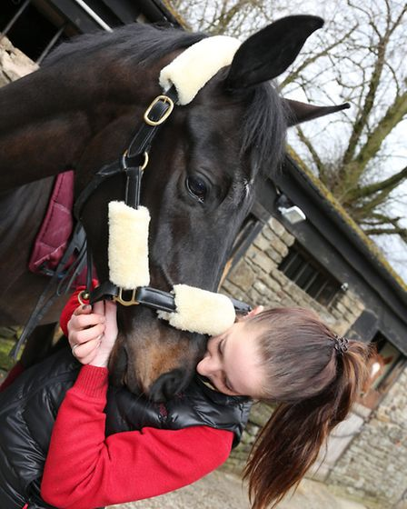 Jessica and her horse have a close bond