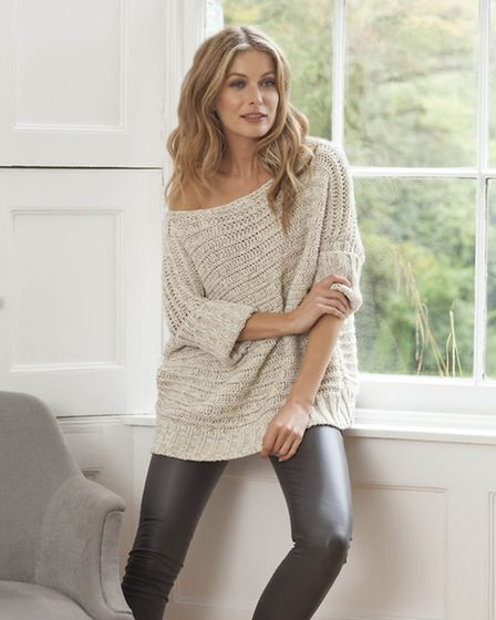 Horizontal rib top in in oatmeal marl £130 by Cornish company Celtic & Co 0844 557 8877 celticandco.