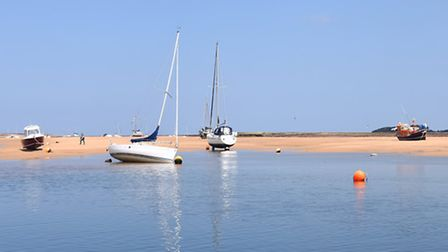 Wells Quay bathed in sunshine, an inspiring setting for writers, poets and artists alike. Picture: I