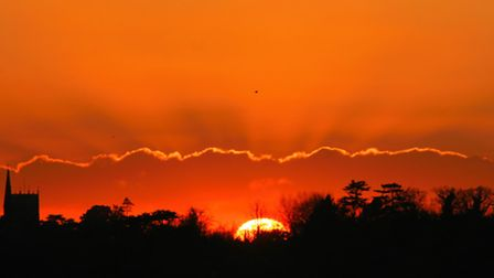 The end of the day Mike Collantine's spectacular sunset shot taken near Sutton Heath.