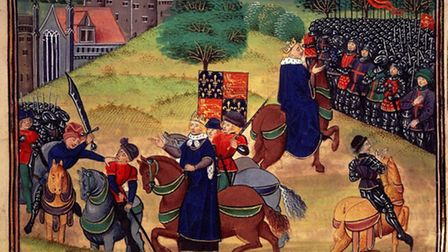 The Peasant's Revolt: Richard II witnessing the death of Wat Tyler