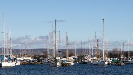 The Marina is still busy but Glasson was once a busy trading port