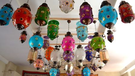 Glass lanterns from Dilliway & Dilliway