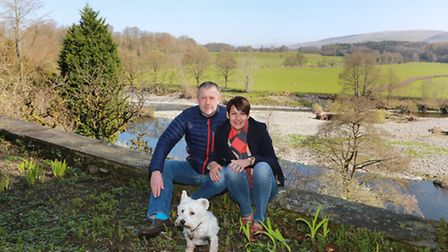 Neil and Gill Hardy the new owners of Abbots Brow House at Swine Market and their very own Ruskin's