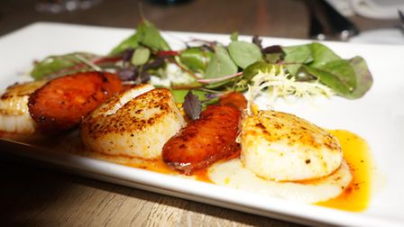 The scallops had a well-balanced flavour