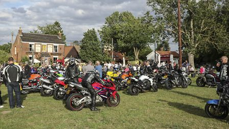 Two Wheel Tuesdays have become popular at the Ox & Plough in Old Buckenham