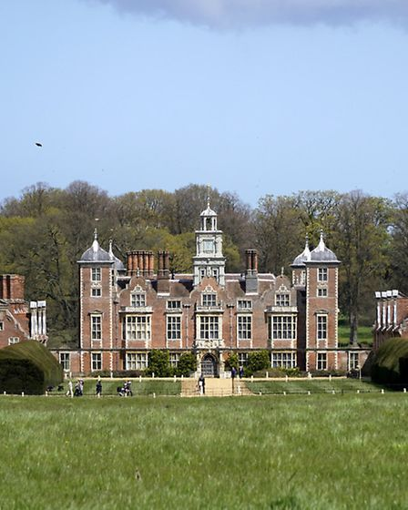Blickling Hall in the early summer sun