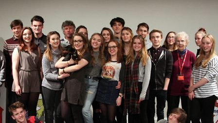 The cast of the Comedy of Errors', recently performed by students in the 'Far East Theatre Company'