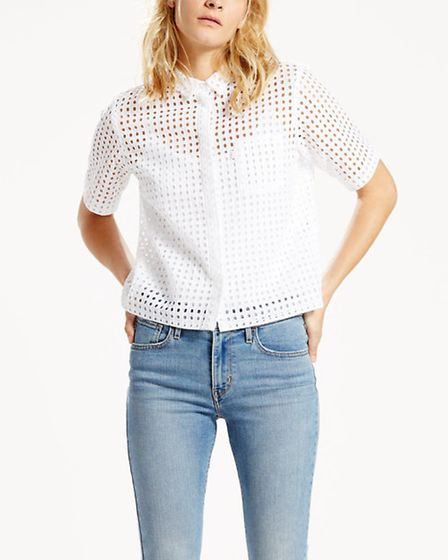Levi's Cropped Anglaise Shirt, £60. Available from Jarrold, Norwich.