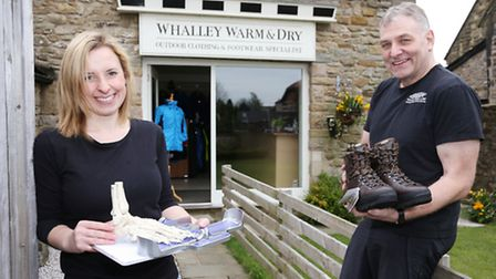 Liz Holgate and Jon Smith at Whalley Warm and Dry