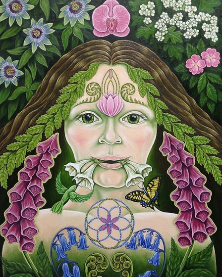 The Green Woman. She symbolises spring, a beautiful time in the Ribble Valley. It was bought by a co