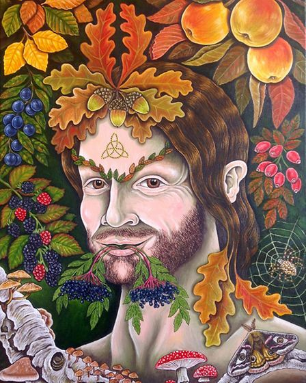 Edwards depiction of him is not as an archetypal Green Man but rather of a human who is also part of