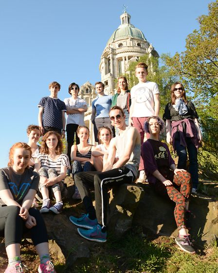 The Dukes Young Company who will play dwarves, wood elves and goblins in The Hobbit meet up for a re