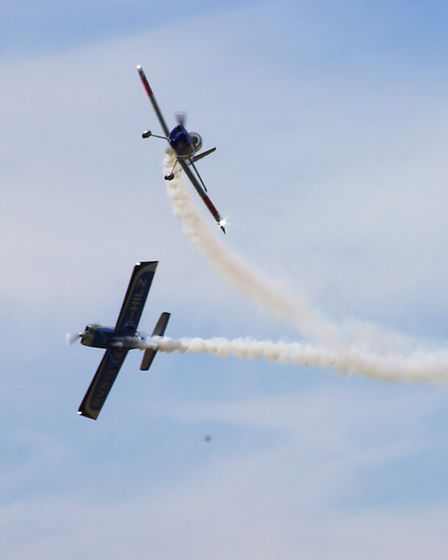 The RV8TORS and Spitfire MH434 at Old Buckenham Air Show