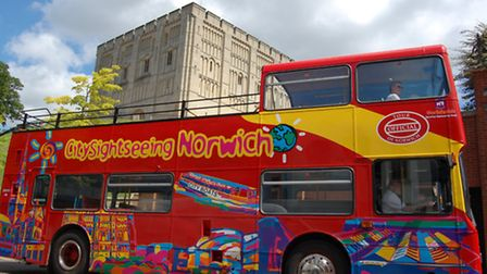 Hop on and off the Norwich sight-seeing bus to all your favourite attractions.