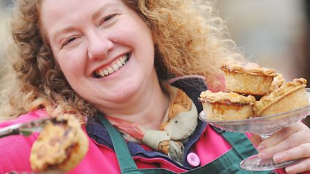 Sarah Pettegree with some of her Bray's Cottage Pork Pies