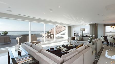 'Floor to ceiling windows slide back to remove the barrier between the inside and outside'