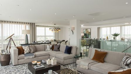 The flat was decorated by interior designer Jessica Sawyer