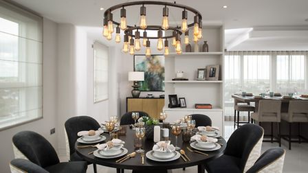 This dining area creates an inviting space for entertaining