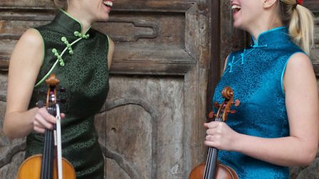 Acclaimed violin duo Retorica who will perform a collection of works by Bach, Telemann, Mozart as we