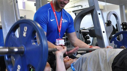 Kristian Dyer at the gym
