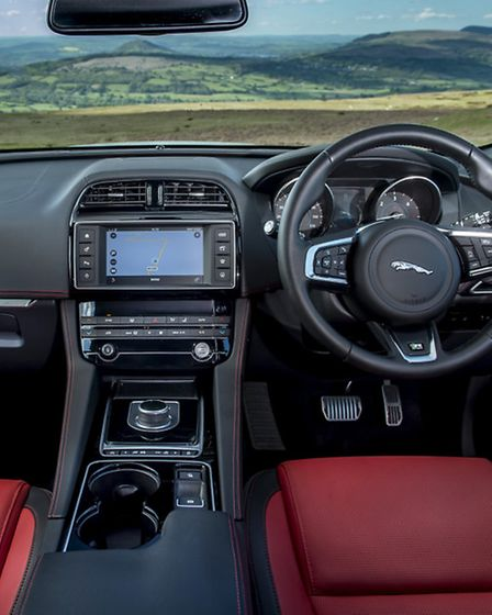 It is easy to feel at home at the wheel of the Jaguar F-Pace
