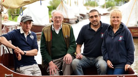 With tales of Hunters Yard past and present, (from left) Ian Grapes, Tom Grapes, Marc Head and Vikki