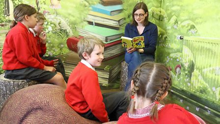 the woodland library at Lydeard St Lawrence Primary School