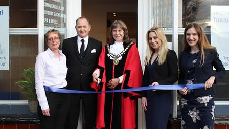 Martin Pate and his team at MJP Law at the opening of the Fenrdown office by the local Mayor
