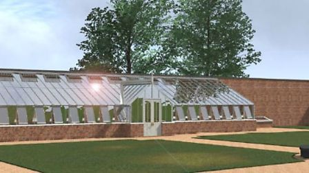 Artists impression of the Victorian-style greenhouse