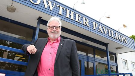 Roger McCann in front of Lowther Pavilion