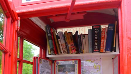 EDP Norfolk magazine food review, the Honingham Buck, the phone box museum in the village. PHOTO BY