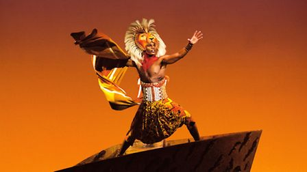 Andile Gumbi (Simba) in Disney's The Lion King at the Lyceum Theatre, London