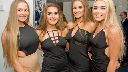Bailey Thompson, Holly Birchall, Charlotte Berry and Kate Davies