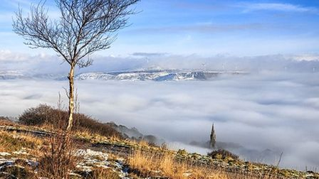 Holcombe Church from Holcombe Hill by Shaun Ogden
