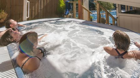 You can while away hours in the froth of the hot tub