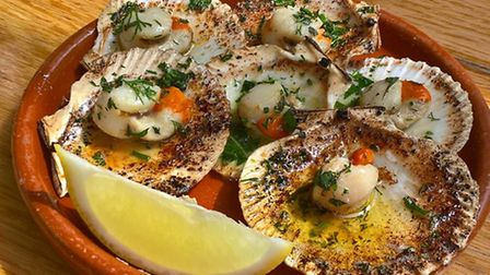 The menu includes scallops, langoustines and Spanish tortillas