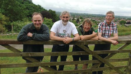 Mendip Ramblers checking out the routes for their Free Walking Festival