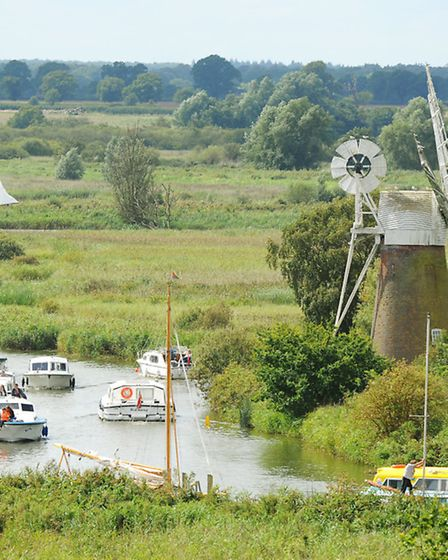 The River Ant and Turf Fen Mill at How Hill on the Norfolk Broads
