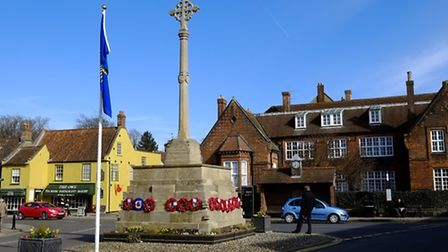 Holt Market Place and War Memorial. Picture: MARK BULLIMORE