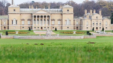 The glorious view of Holkham Hall