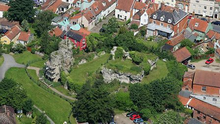 EADT; Mike Page Aerial Photo Library; Bungay Castle; PICTURE COPYRIGHT MIKE PAGE - PICTURES AVAILABL